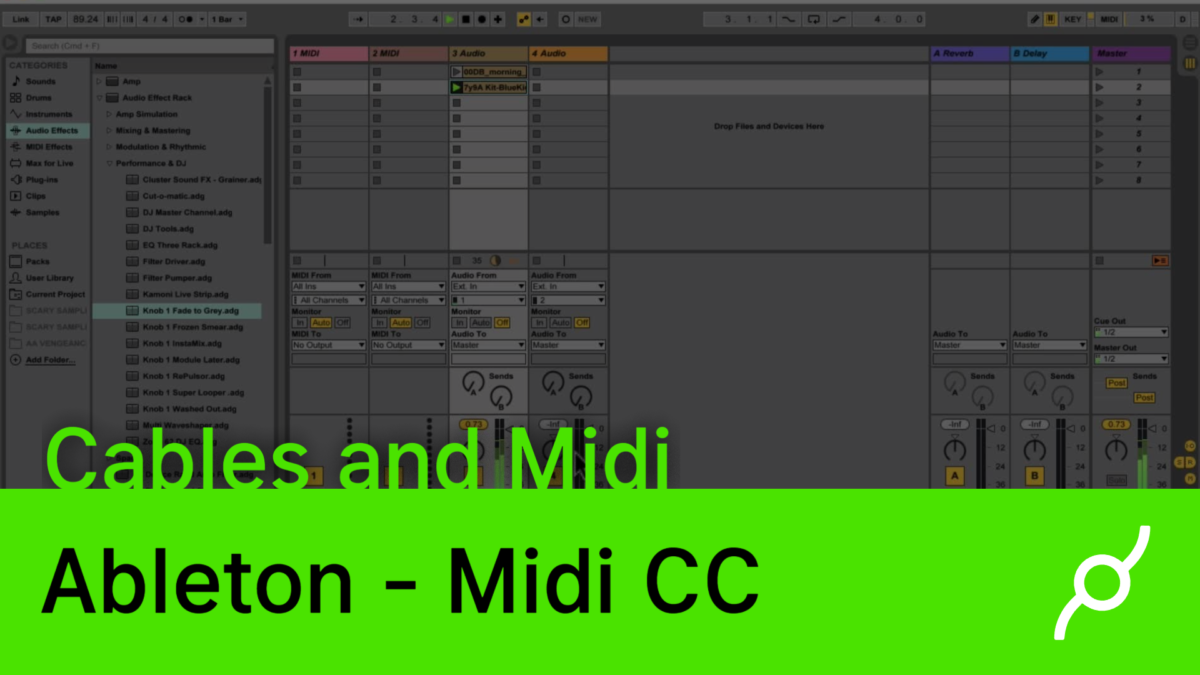 Ableton and cables – Midi CC – new video