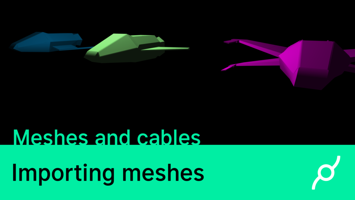 New tutorial – Importing 3D meshes into cables