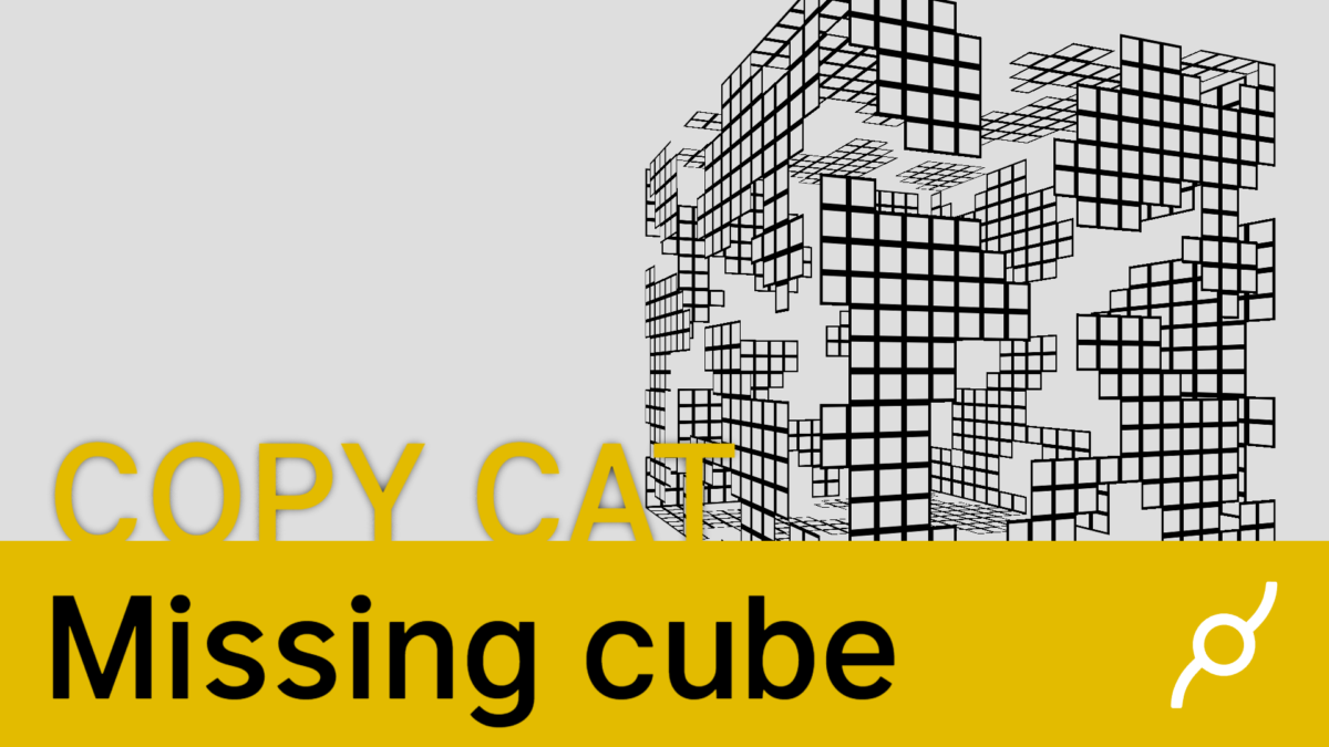 New Copy cat cables video – Missing cube