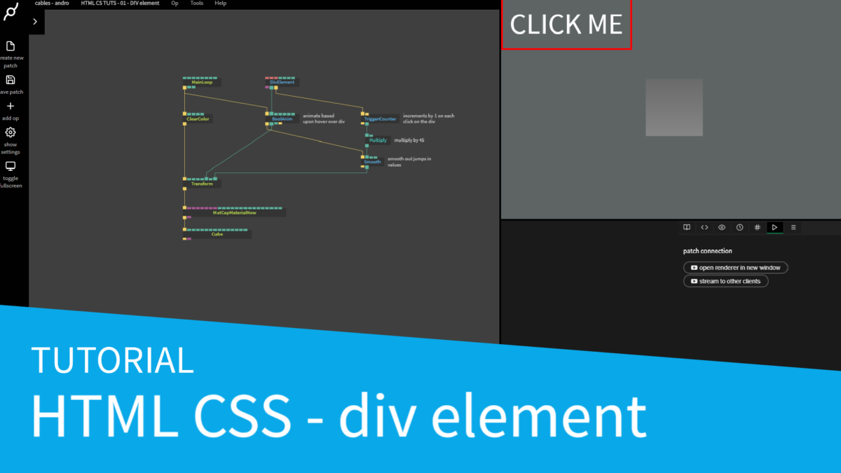 New video tutorial series – HTML CSS