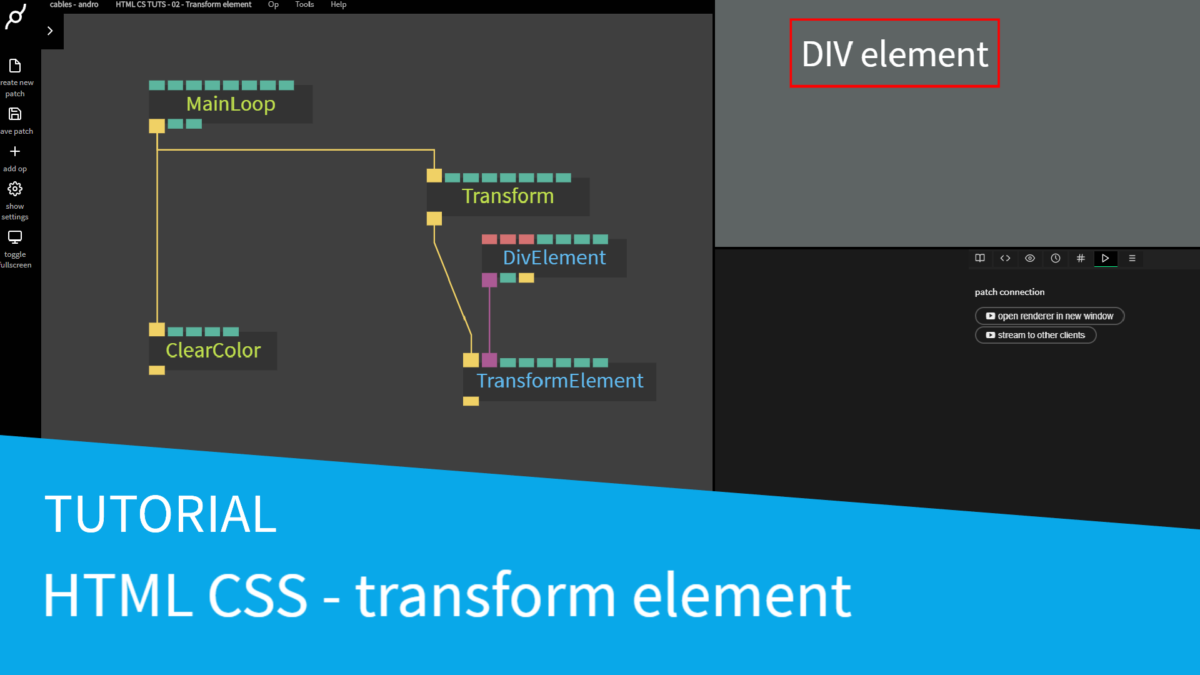 New HTML CSS tutorial – Transform element op
