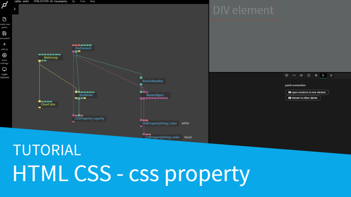 New HTML CSS tutorial – CSS property op